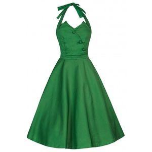Lindy Bop Myrtle Green Halter Retro Swing Dress